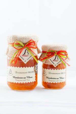 Confiture de Mandarine et Rhum 250grammes