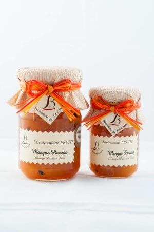 Confiture de mangue Passion 250 grammes pot en verre