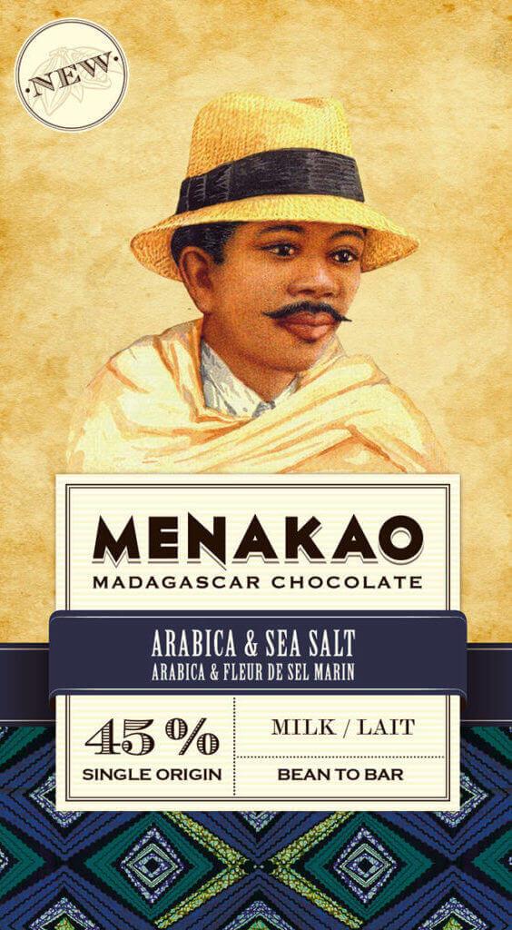tablette de chocolat au lait 45% cacao menako arabica