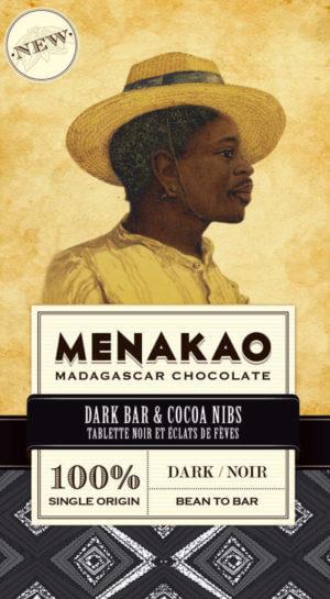 tablette de chocolat noir 100% cacao menako à