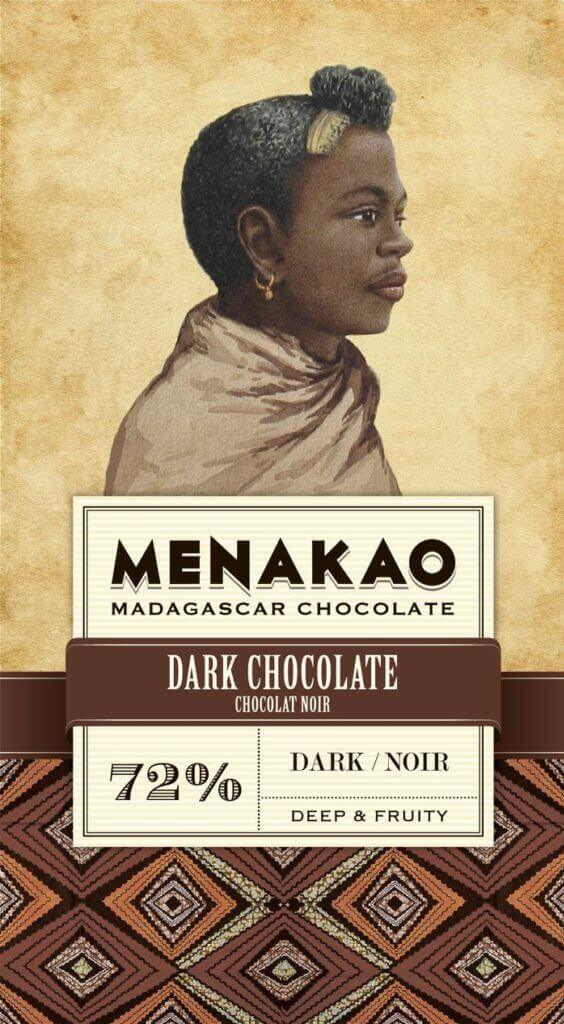 tablette de chocolat noir 72% cacao menako