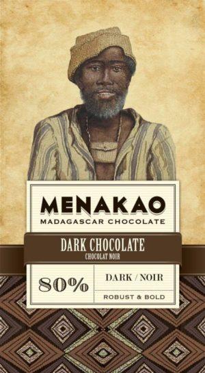 tablette de chocolat noir 80% cacao menako à
