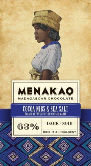 tablette de chocolat noir menako aux éclats de fèves