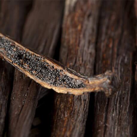 l'intérieur d'une gousse de vanille