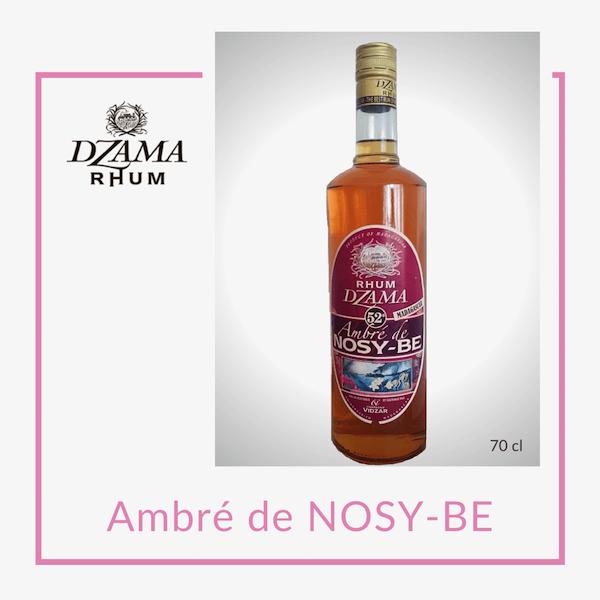 Rhum Dzama ambré de Nosy-be