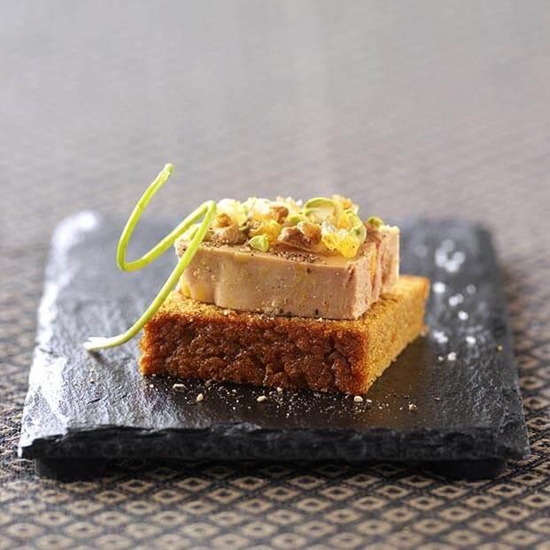 Tartine de foie gras à la vanille