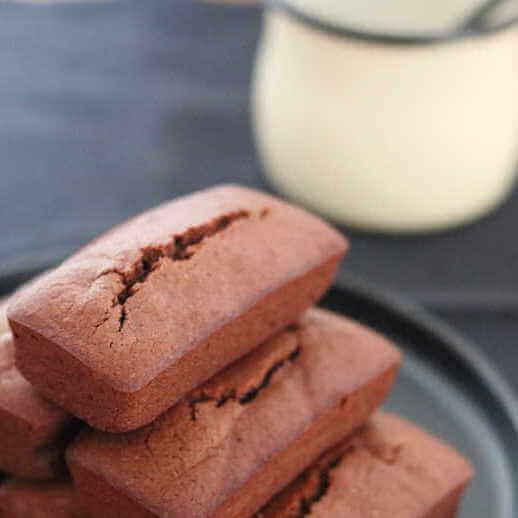 Financiers au chocolat noir
