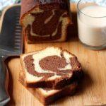 Recette du marbré au chocolat au lait vanillé