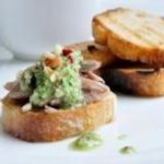 Recette toast aux rillettes de canard et pesto de gingembre