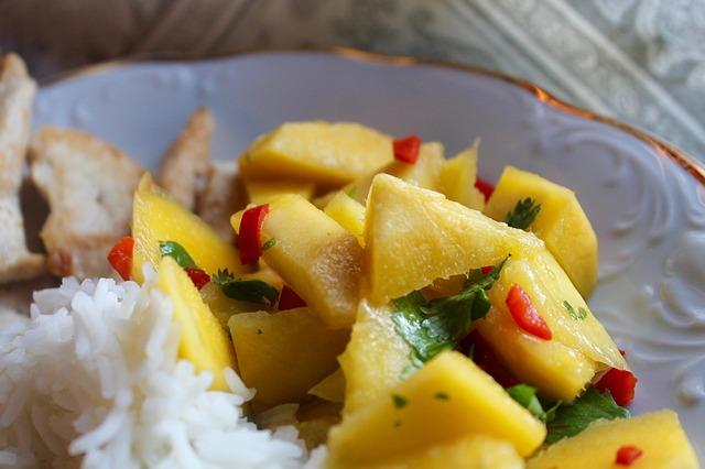 Poulet à la mangue & vinaigre de mangue épicée