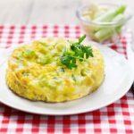 Omelette au concombre, fromage & vinaigre balsamique Curcuma